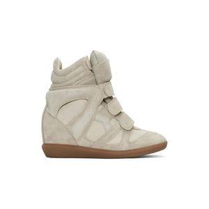 Isabel Marant Bekett Sneaker Suede Ecru Beige